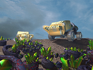 Render of harvesters