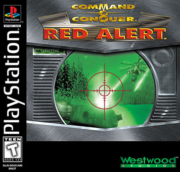 Red Alert North American PlayStation Caseart