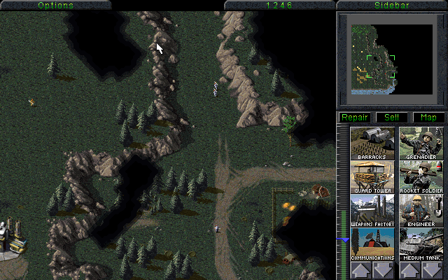 Forest and town outside GDI base