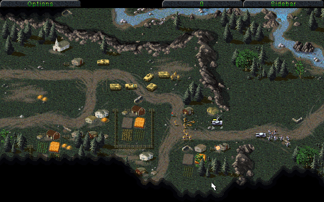 GDI defending village
