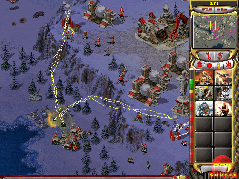 Soviet base under attack by the Allies